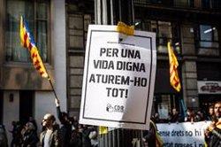 Un total de 28 ferits durant les manifestacions per la vaga (David Zorrakino - Europa Press)