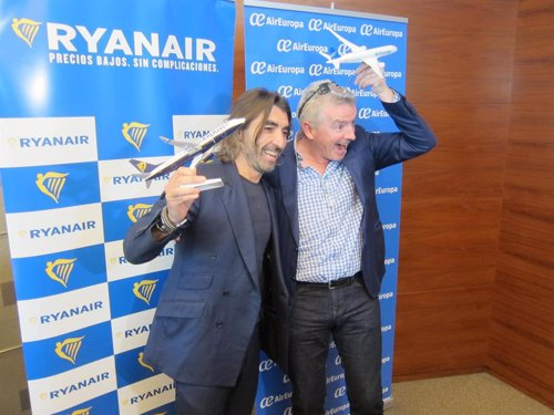 Javier Hidalgo (Air Europa) y Michael O'Leary (Ryanair)