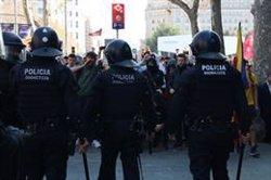 Calma al Passeig de Gràcia després de la protesta dels estudiants (ACN)