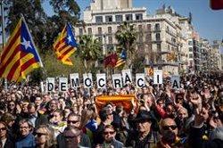La Guàrdia Urbana xifra en 13.000 els assistents a la manifestació estudiantil (David Zorrakino - Europa Press)