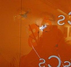 Trenquen vidres a la seu de Cs a Barcelona durant aquesta nit (CS)