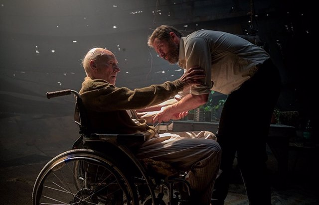 Hugh Jackman y Patrick Stewart en X-Men