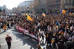 Dissolta la manifestació d'estudiants del centre de Barcelona (David Zorrakino - Europa Press)