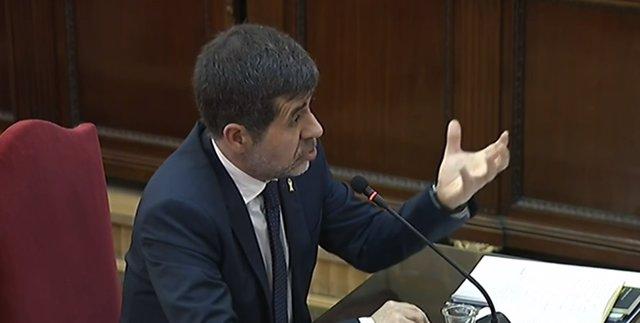Interrogatorio a Jordi Sànchez en el juicio por el 'procés'