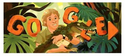 Google dedica un 'doodle' internacional a Steve Irwin