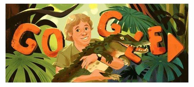 Google dedica un 'doodle' internacional a Steve Irwin, el conocido 'Cazador de c