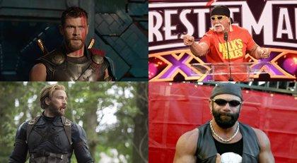 Así serían Chris Hemsworth como Hulk Hogan y Chris Evans como Randy Savage