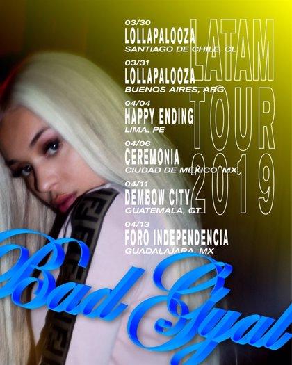 Bad Gyal anuncia gira de conciertos por Latinoamérica