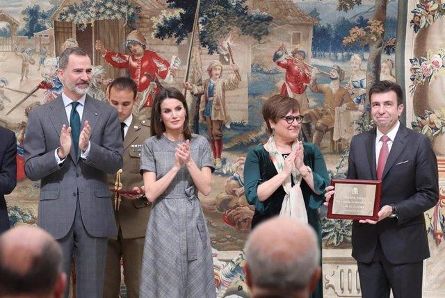 Pablo Artal tras la entrega del Premio Nacional
