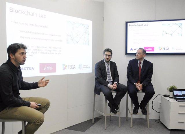 Eric Jover (ministro de Educación de Andorra) Jordi Nadal (Andorra Telecom) Marc