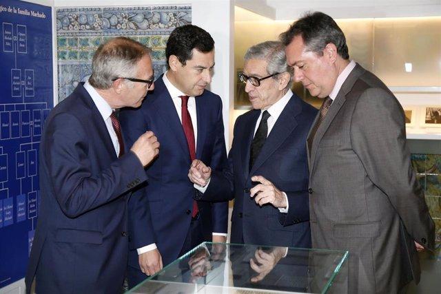 Guirao, Moreno, Medel y Espadas inauguran la muestra de los Machado en Sevilla
