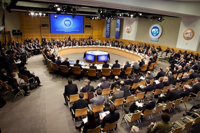 Sesion del  CMFI, FMI / Banco Mundial