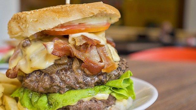 Hamburguesa, comida basura, comida rápida, grasa