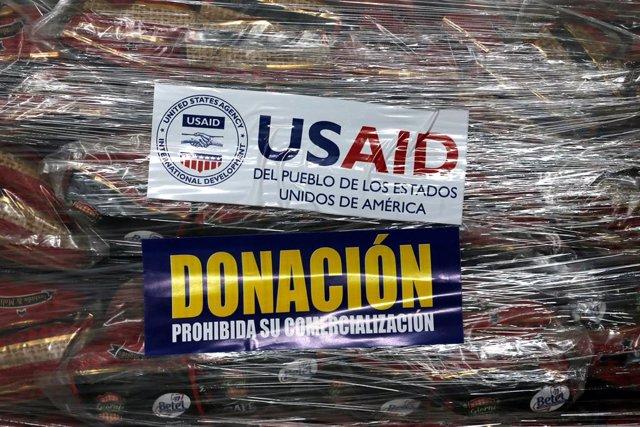 Ayuda enviada por USAID para Venezuela