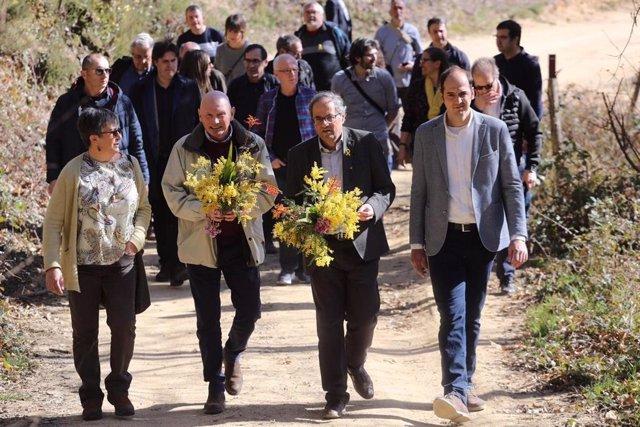 L'exlehendakari, Juan José Ibarretxe, i el president de la Generalitat, Quim Tor