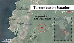 Registrat un terratrèmol de magnitud 7,5 a la zona est de l'Equador (EUROPA PRESS)