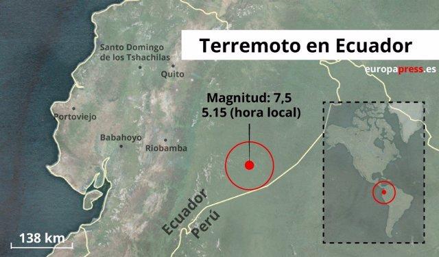 Portadilla del terremoto de 7.5 en Ecuador