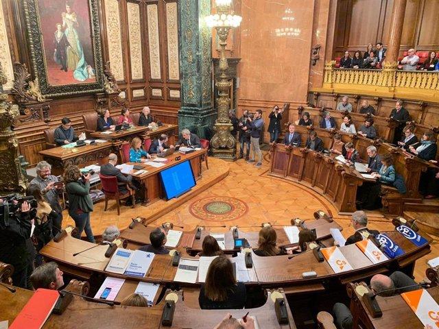 El ple de l'Ajuntament de Barcelona