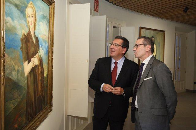 Inauguracion de la exposición Enrique Ochoa en Fundación Cajasol