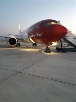 El avión de Norwegian atrapado durante dos meses en Irán