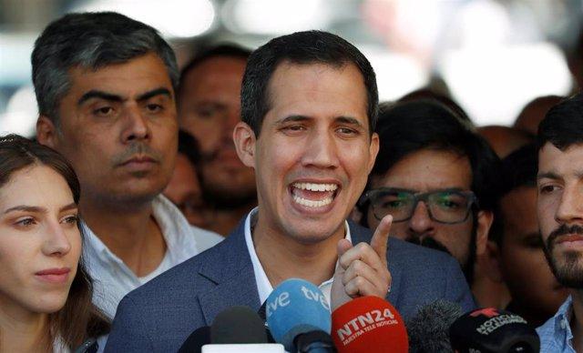 Juan Guaidó En Nuestra Señora De Guadalupe (Caracas)