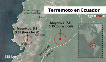 Al menos 9 heridos y decenas de edificios afectados tras registrarse varios terremotos en Ecuador