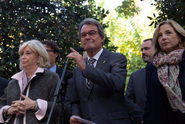 Artur Mas y otros miembros del anterior Govern se pronuncian sobre la sentencia