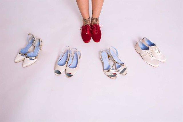 713c53f9 Claudia Civilleri lanza su original colección de zapatos de novia cómodos