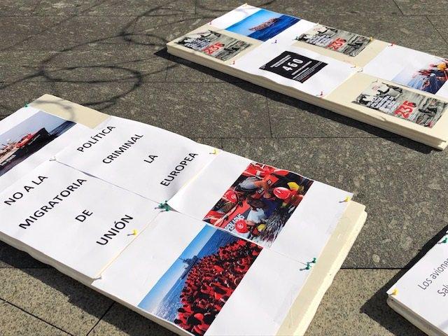 Protesta en Santander contra política migratoria de la UE