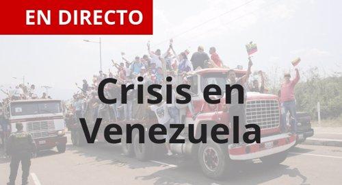 Directo de la entrega de ayuda humanitaria en Venezuela