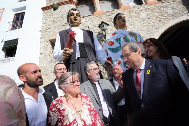 El president de la Generalitat, Quim Torra, i la consellera Laura Borrs