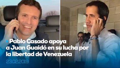 """Casado traslada su apoyo a Guaidó: """"Nos tienes a tu lado. Viva Venezuela libre"""""""