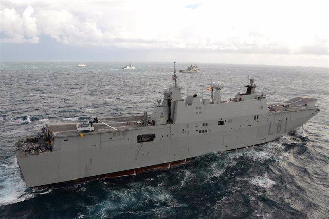 El buque 'Juan Carlos I'