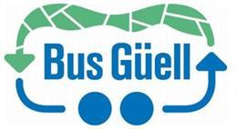 Logo del bus llanadora al Park Güell