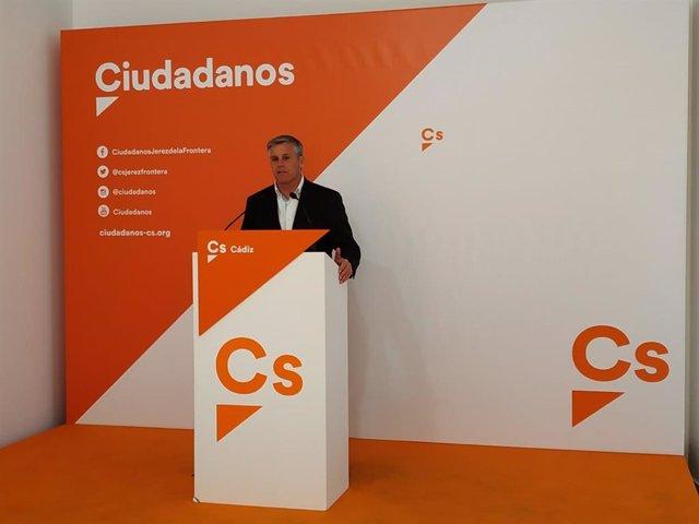 Javier Cano, diputado de Cs por Cádiz en rueda de prensa