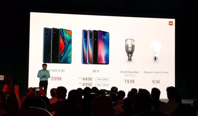 Xiaomi anuncia en l'MWC l'arribada al maig del seu primer mbil amb 5G per 599 e
