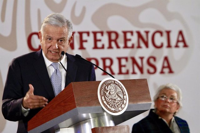 Mexican President Obrador press Conference in Mexico City