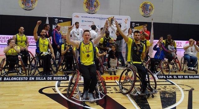 Un Ilunion de récord gana su 18ª Copa del Rey de baloncesto en silla de ruedas