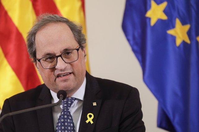 El president de la Generalitat Quim Torra: discurs d'inauguració de l'MWC 201
