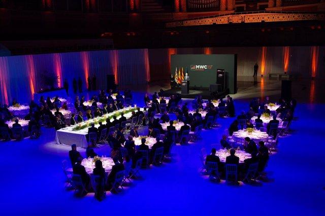 El Rei Felipe VI en el seu discurs del sopar oficial de l'MWC 2019