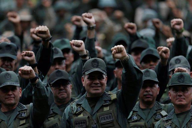 Vladimir Padrino López y otros mandos militares de Venezuela