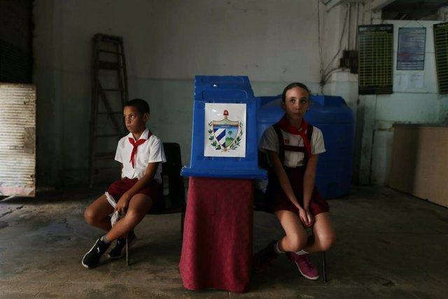 Votación en Cuba