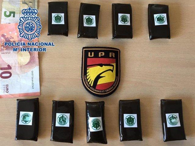 Material incautado por la UPR de la Policía Nacional