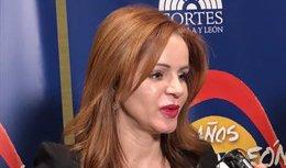 La presidenta de las Cortes, Silvia Clemente, 19-4-18