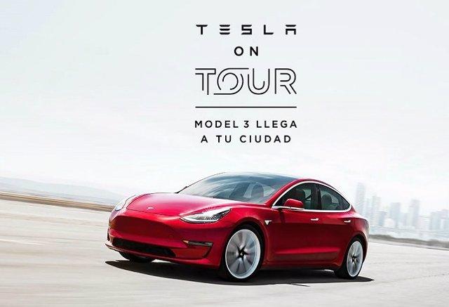 El Tesla Model 3 se podrá probar en 15 ciudades de toda España
