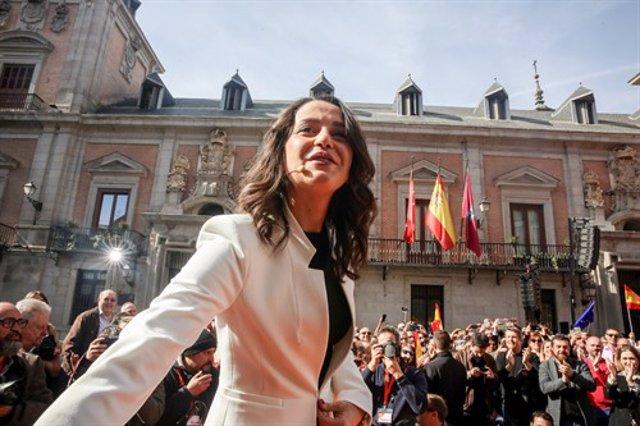 Inés Arrimadas en un acto de Cs en Madrid