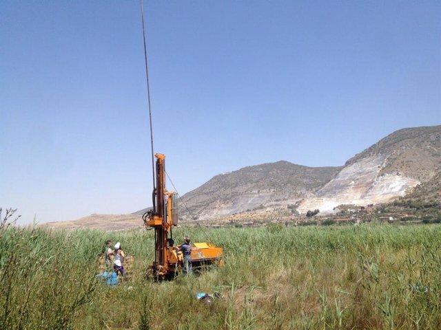 Campaña de sondeo en el margen de la Laguna de Padul