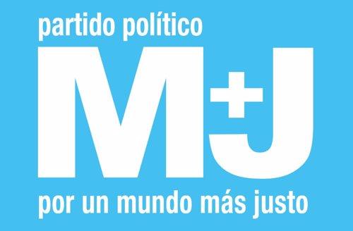 Logo del partido político Por Un Mundo Más Justo (M+J)