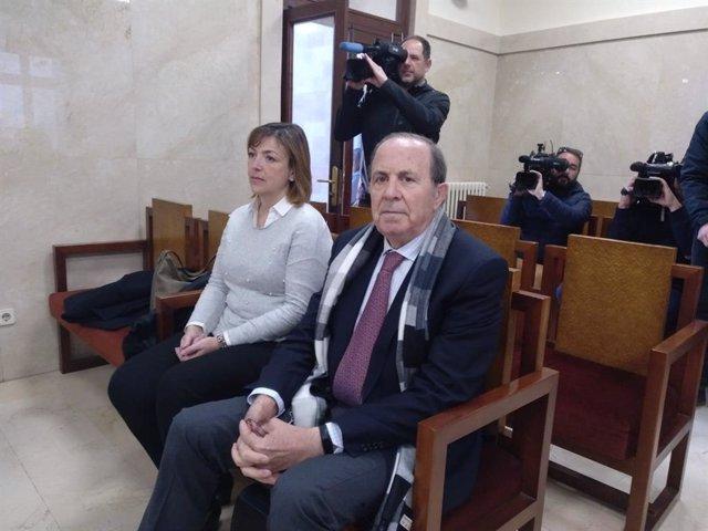 José María Rodríguez i María Luisa Durán en el judici del cas Over