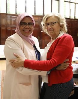 Carmena se reúne con la directora de ONU-Habitat como antesala a ponencia sobre